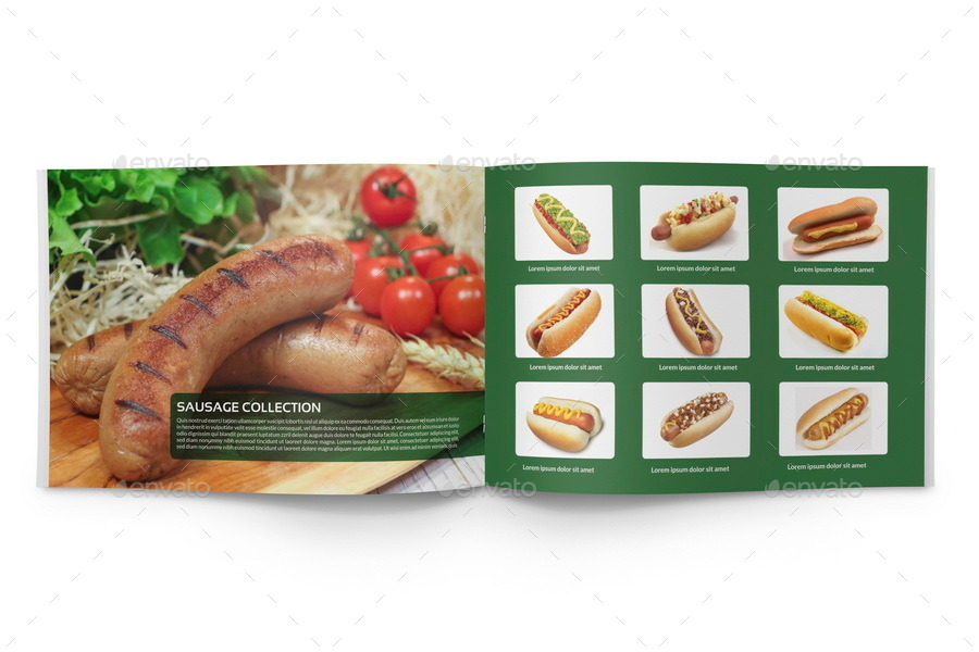 Food Products Catalog Brochure Template 24 Pages By Owpictures