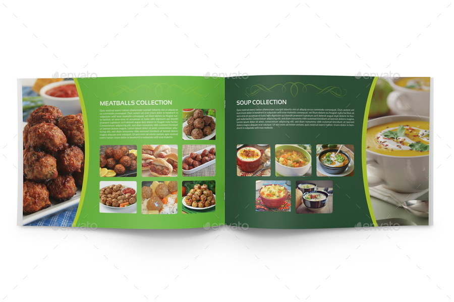 Food Products Catalog Brochure Template Pages By OWPictures - Food brochure templates