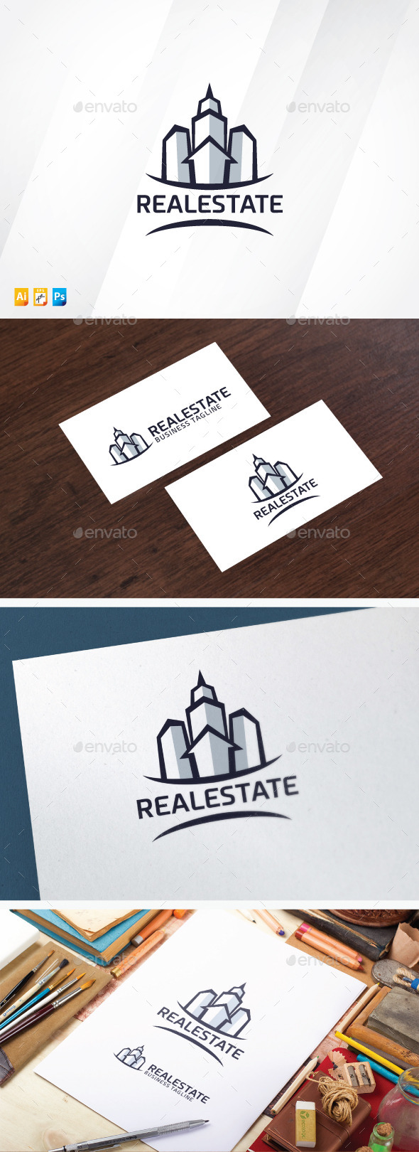 Modern Real Estate - Buildings Logo Templates