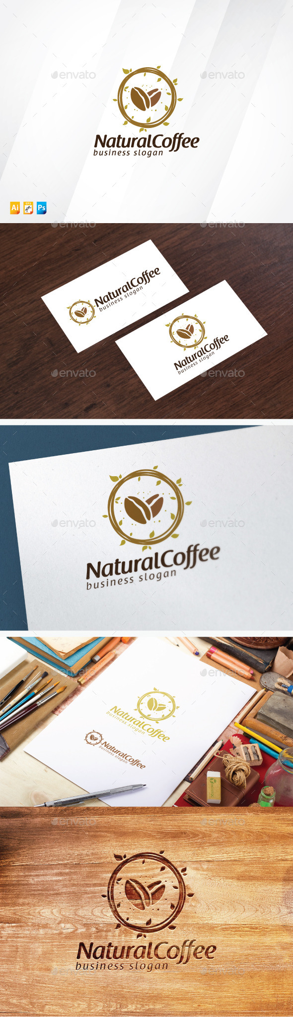 Natural Coffee - Food Logo Templates