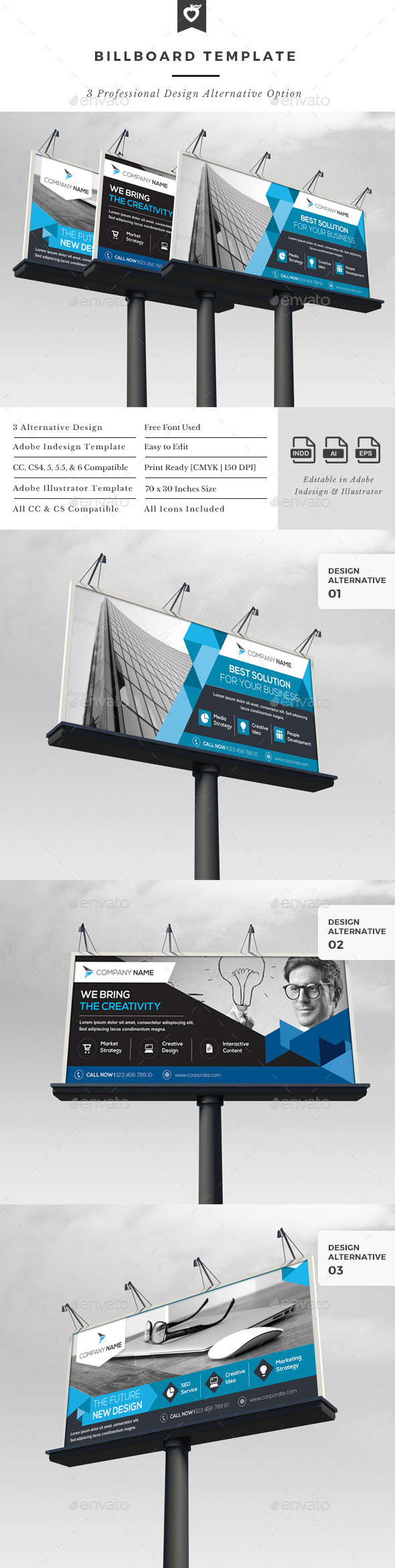 Billboard Template - Signage Print Templates