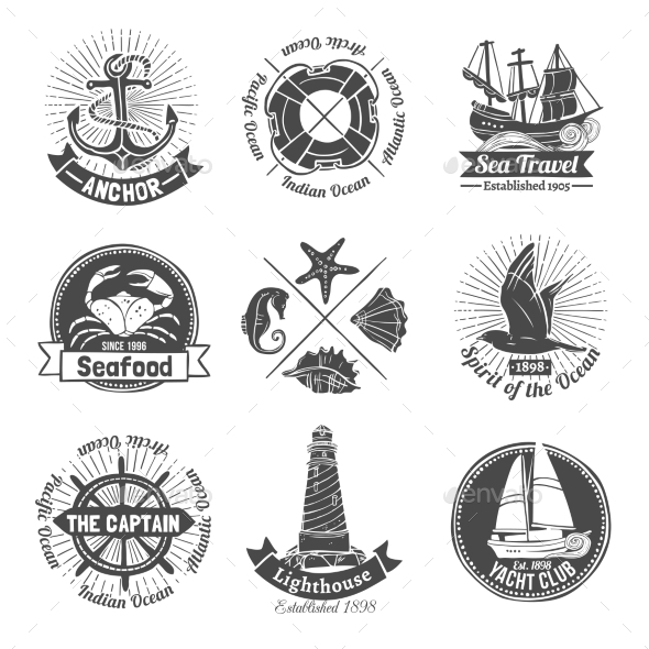 Nautical Labels Set - Nature Conceptual
