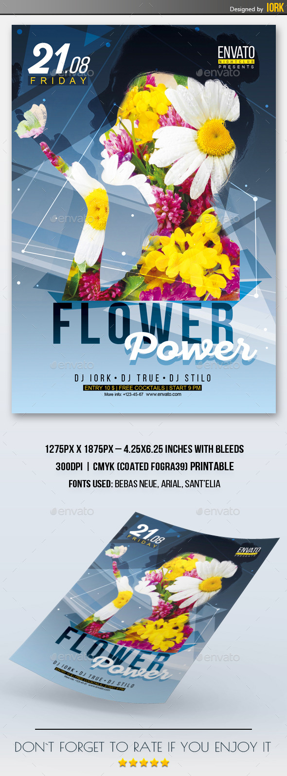 Flower Power Flyer - Events Flyers