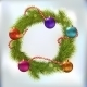 Christmas Wreath Decorated   - GraphicRiver Item for Sale