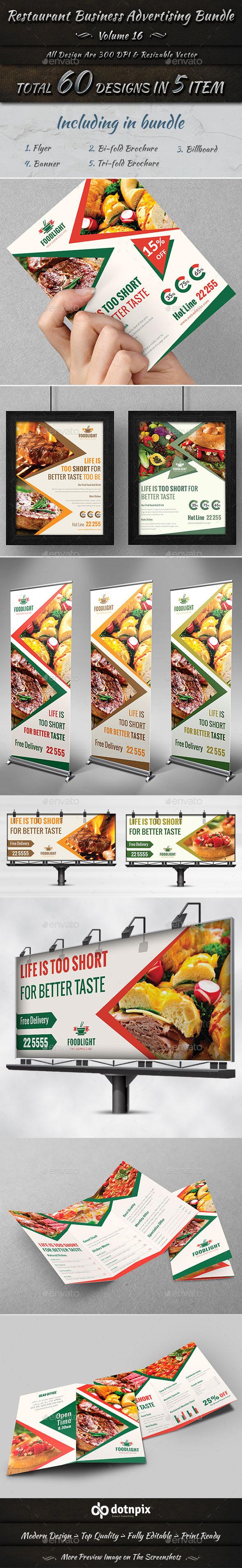 Restaurant Business Advertising Bundle Volume 16