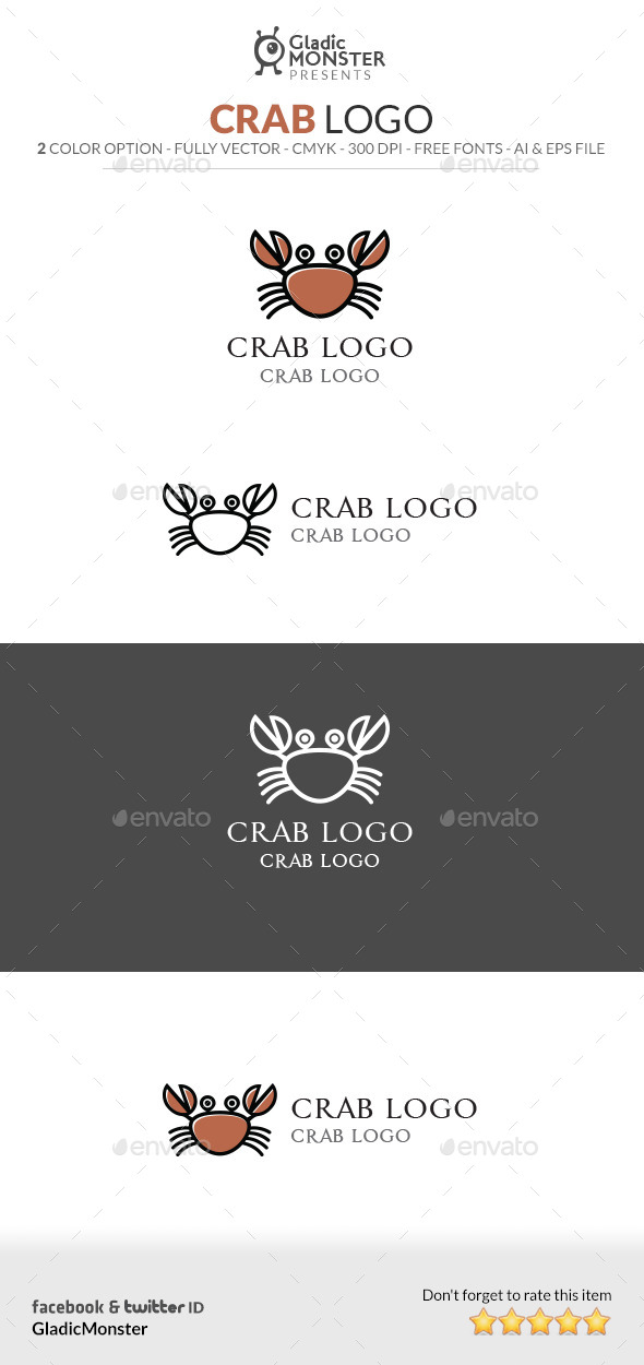 Crab Logo - Animals Logo Templates
