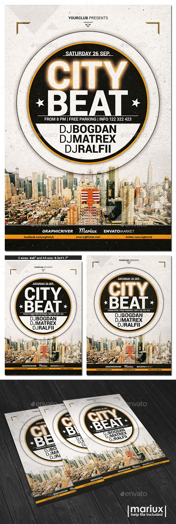 City Beat Flyer Poster - Clubs & Parties Events