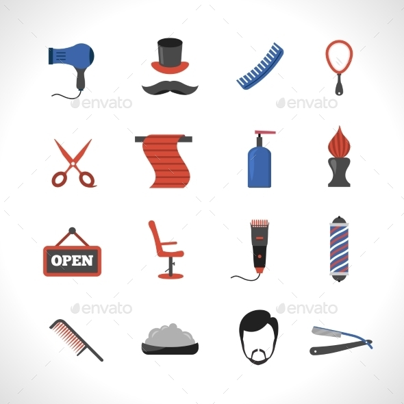 Barber Icons Set - Miscellaneous Icons