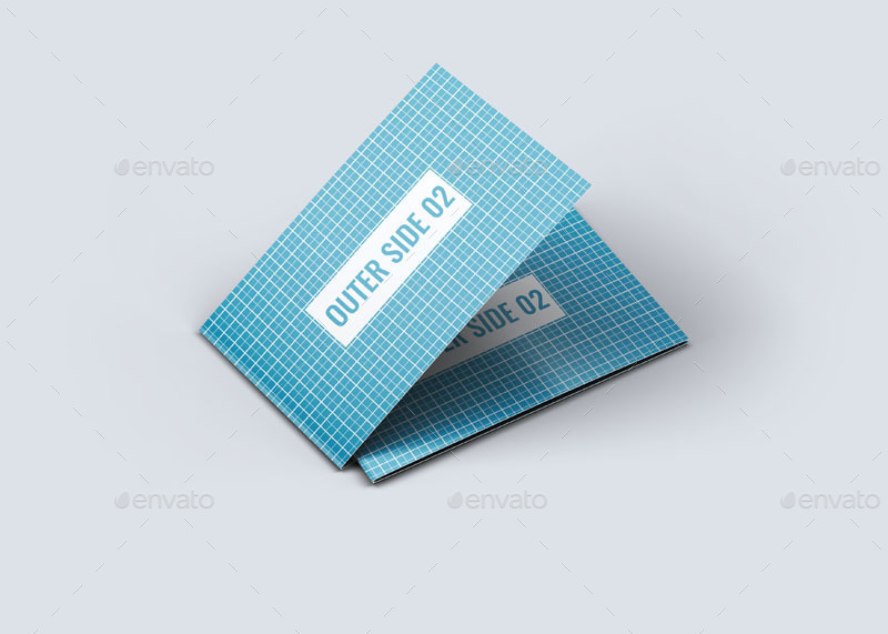 Folded Business Card Mock Up by L5Design