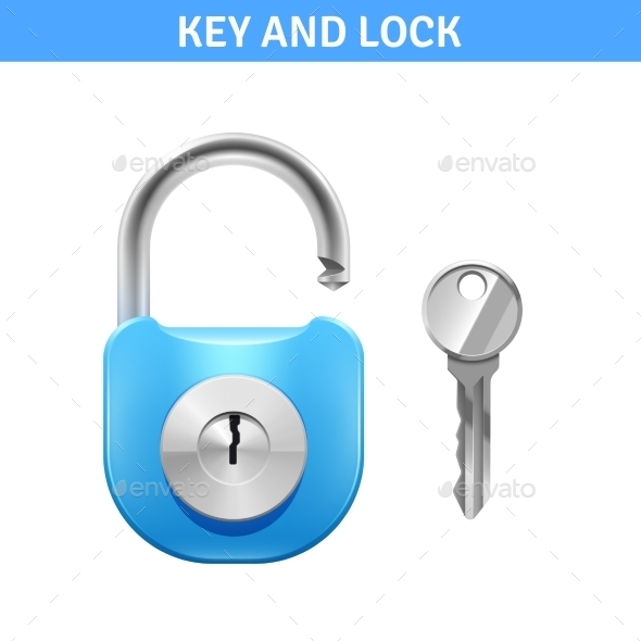 Lock And Key Illustration  - Man-made Objects Objects