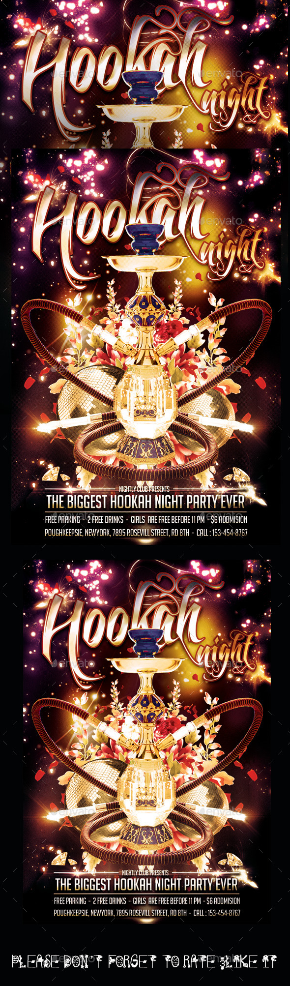 Hookah Night Flyer - Flyers Print Templates