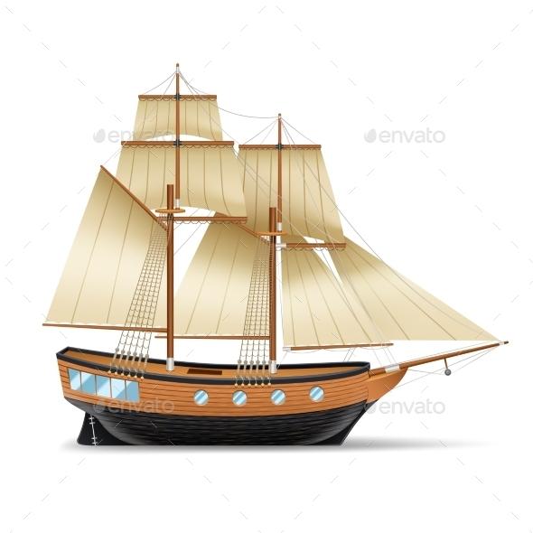 Sailing Ship Illustration  - Travel Conceptual