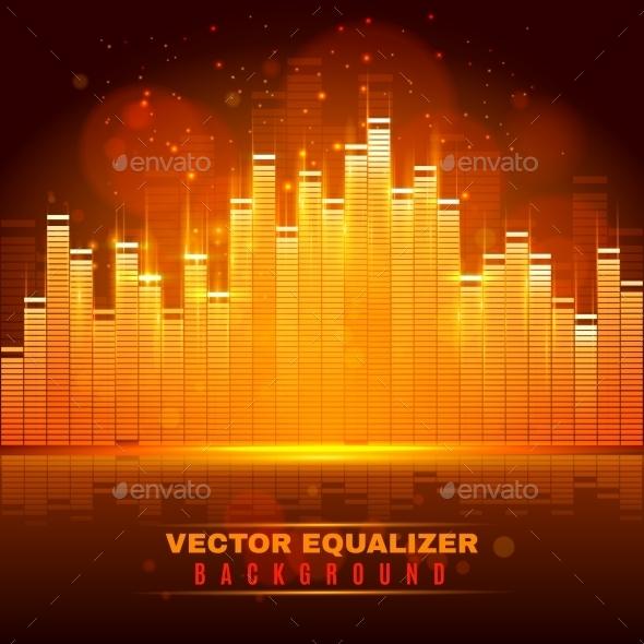Equalizer Wave Light Background Poster  - Backgrounds Decorative