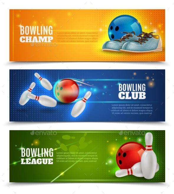 Bowling Banners Set  - Sports/Activity Conceptual