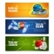 Bowling Banners Set  - GraphicRiver Item for Sale