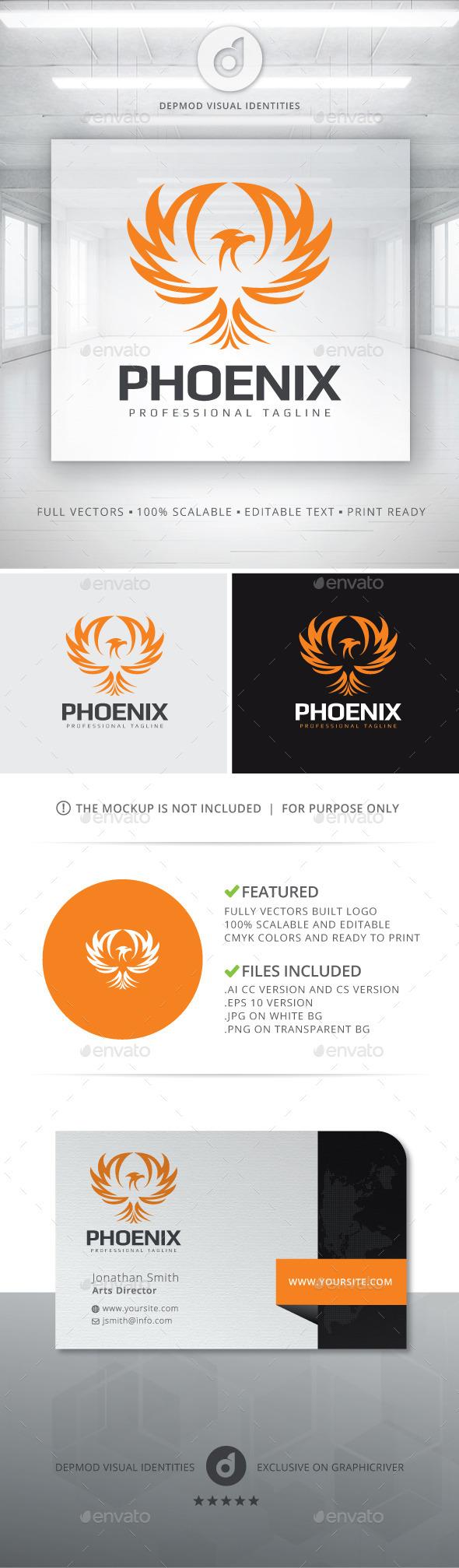 Phoenix V.02 Logo - Animals Logo Templates
