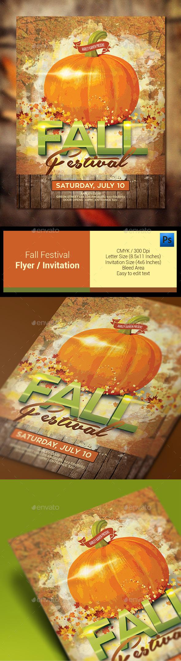 Fall Festival Flyer Invitation