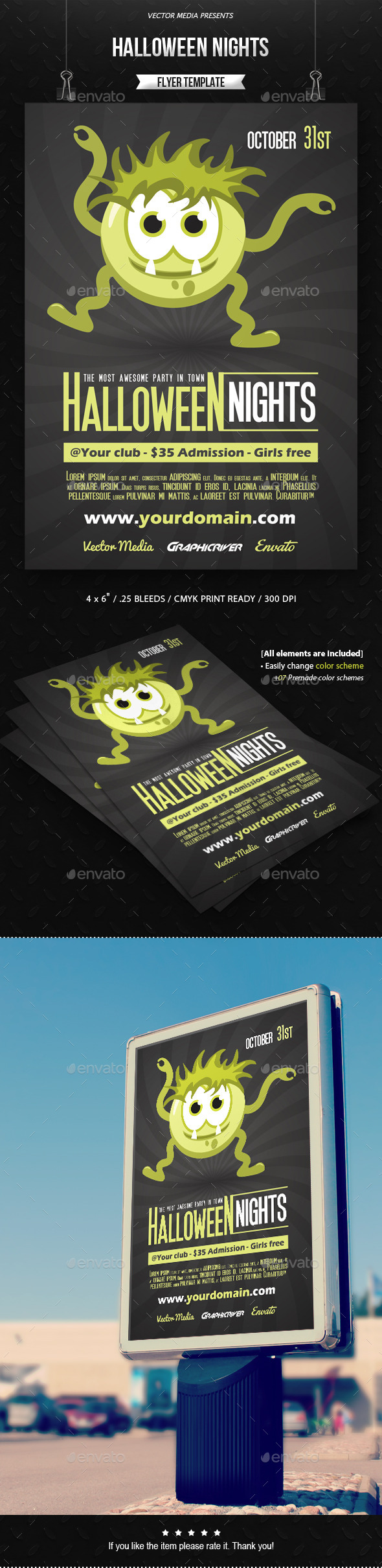 Halloween Nights - Flyer