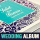 Romantic Wedding Square Photo Album Template - GraphicRiver Item for Sale