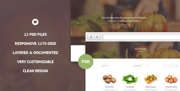 VITAL – Ecommerce PSD Template
