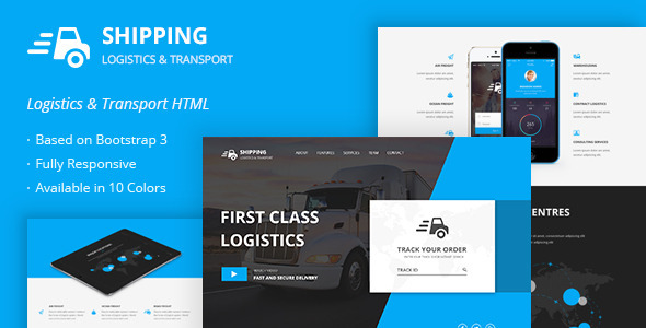 Shipping – Logistics & Transport HTML Template