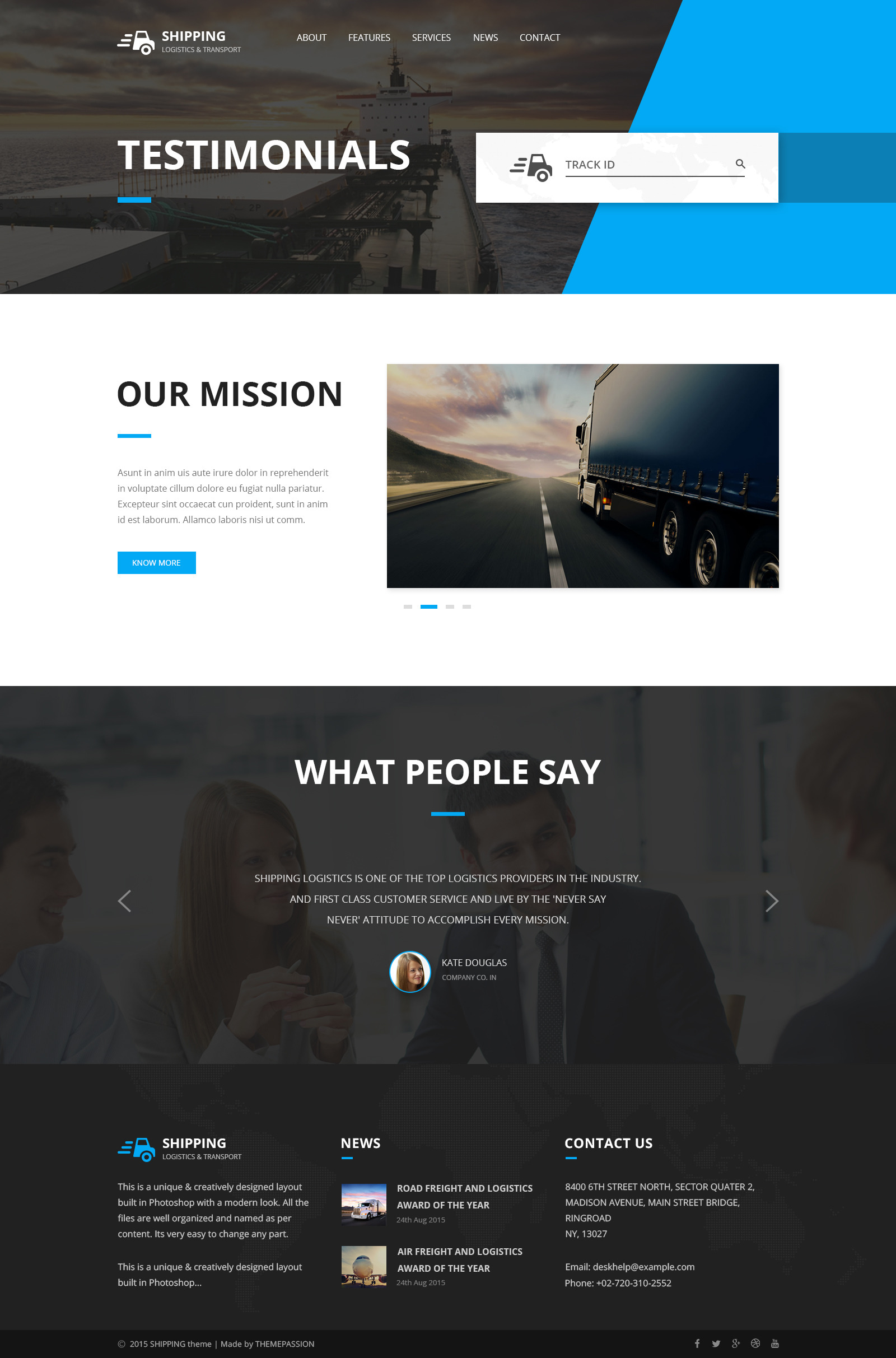 Shipping - Logistics & Transport HTML Template by themepassion ...