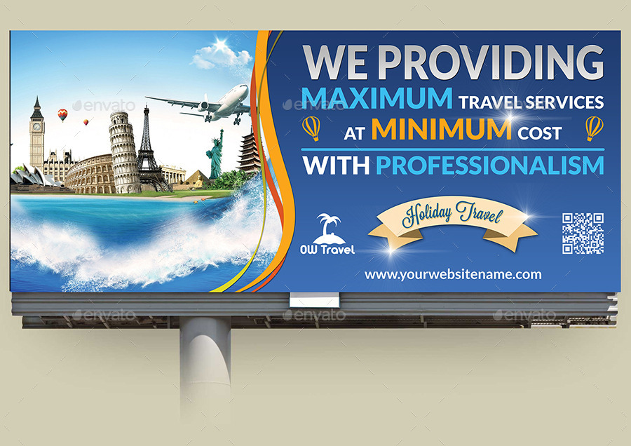 Travel Company Advertising Bundle Template
