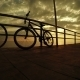 Bicycles At Sunset Sea - VideoHive Item for Sale