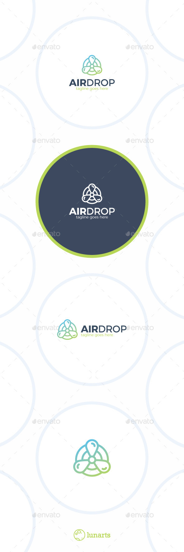 Air Drop Logo - Water Propeller - Nature Logo Templates