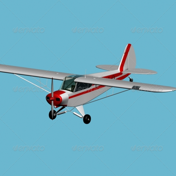 Piper PA 18 Super Cub - 3DOcean Item for Sale