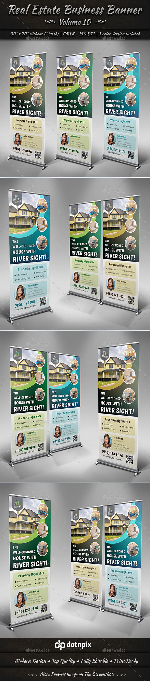 Real Estate Business Banner | Volume 10 - Signage Print Templates