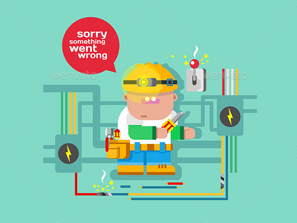 Website Error Page Concept - Web Technology