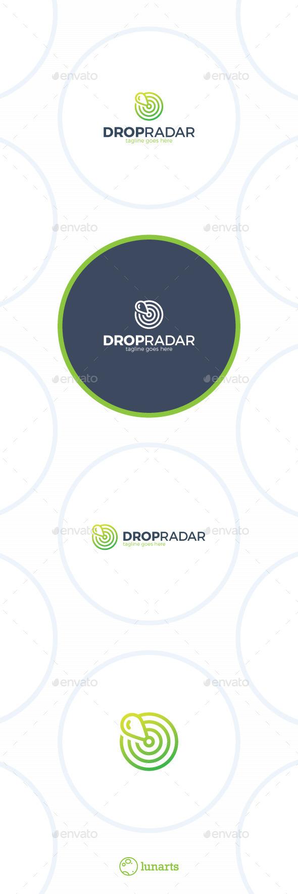 Water Drop Sonar Logo - Marker Radar - Symbols Logo Templates