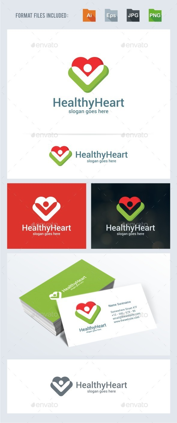Healthy Heart - Symbols Logo Templates