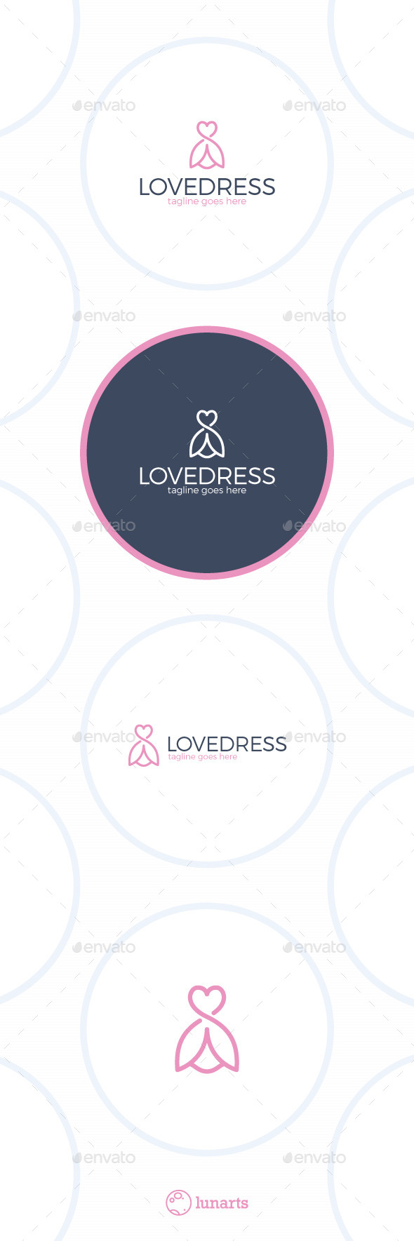 Love Dress Logo - Flower Line - Nature Logo Templates