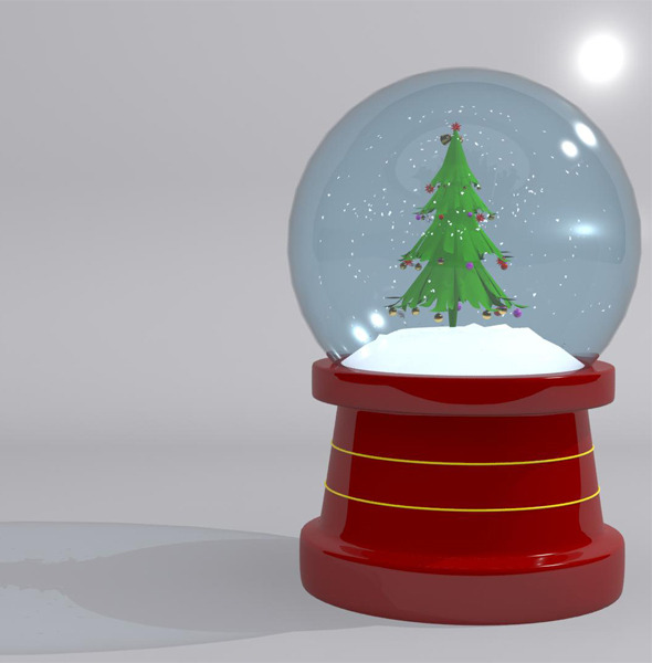 Christmas Snow Globe Tree - 3DOcean Item for Sale