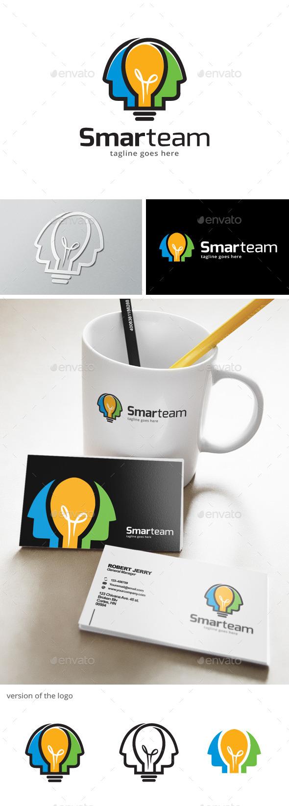 Smart Team Idea Logo - Humans Logo Templates