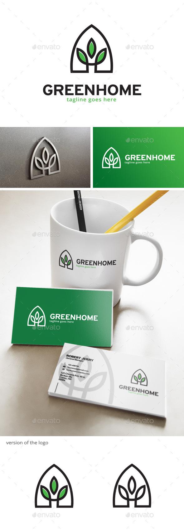 Green House Logo - Nature Logo Templates
