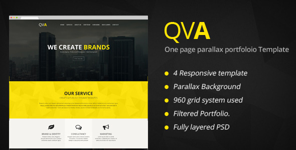 QVA - One Page Multi-purpose HTML Template - Portfolio Creative