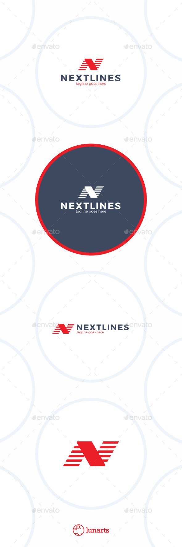 Next Lines Logo - Letter N - Letters Logo Templates