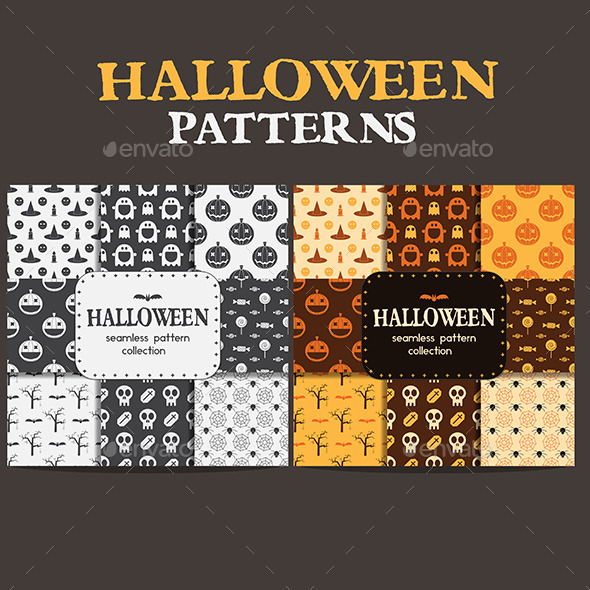 Halloween Pattern Backgrounds - Halloween Seasons/Holidays