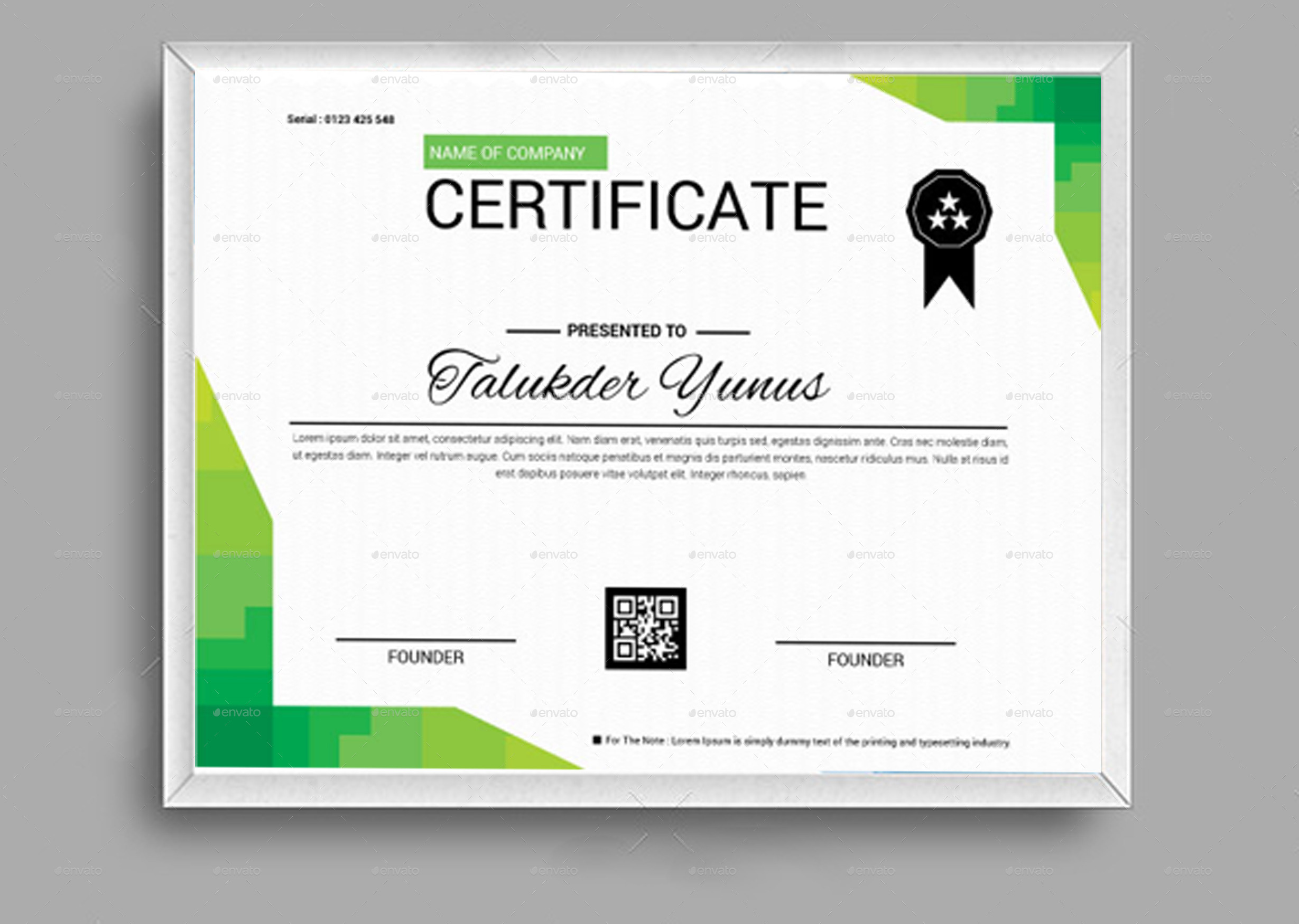 Graphic Design Certificate Of Achievement
