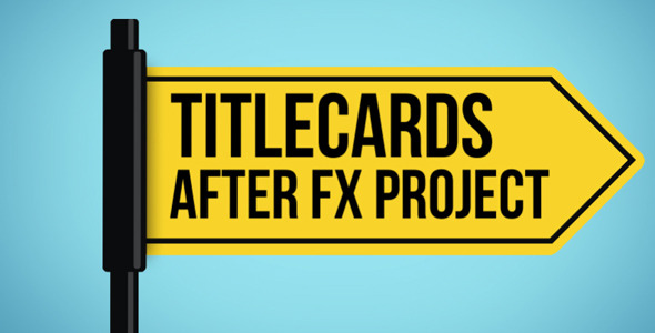 Titlecards and Text Signs Templates