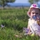 Eight Month Girl With Flowers - VideoHive Item for Sale