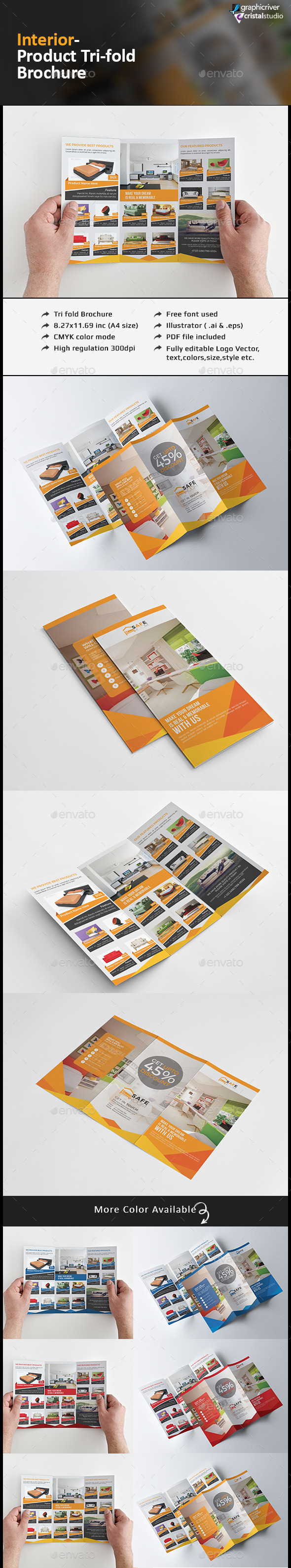 Interior Product Tri fold Brochure - Corporate Brochures