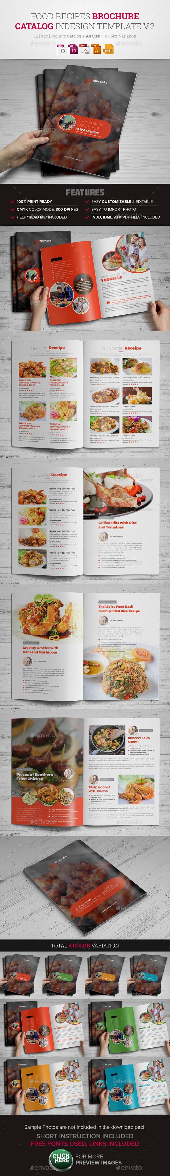 Food Recipes Brochure Catalog InDesign v.2