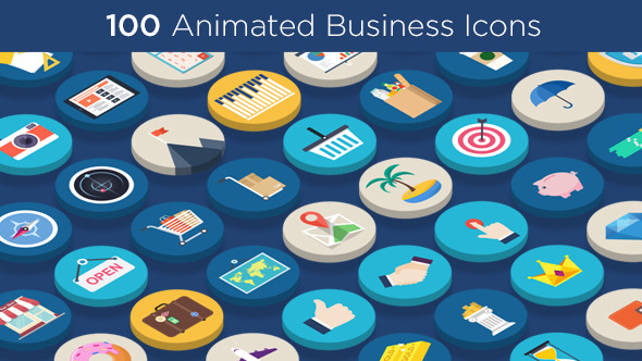 100 Animated Business Icons