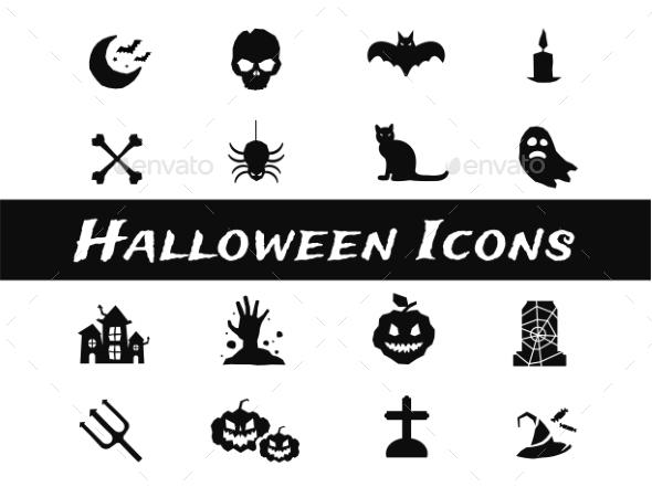 Halloween Vector Icons Set - Miscellaneous Icons