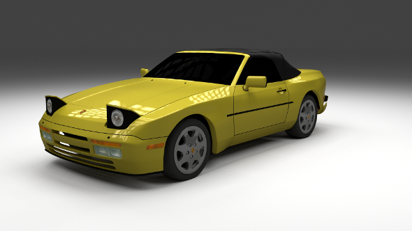 Porsche 944 Convertible - 3DOcean Item for Sale