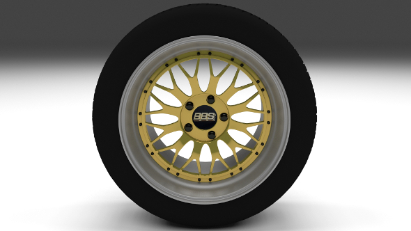 BBS Wheel Gold - 3DOcean Item for Sale